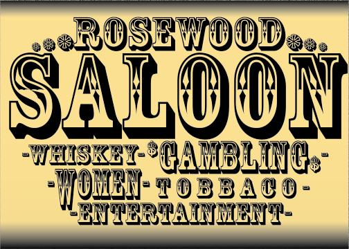 6 Old Time Western Saloon Fonts Images