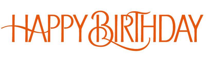 Orange Happy Birthday Font