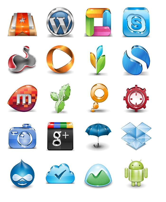 Popular Application Icons