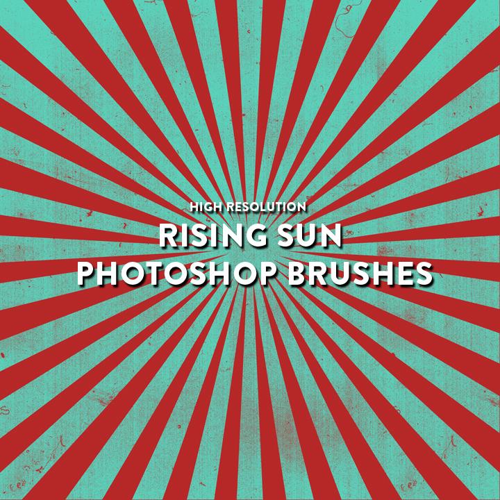Rising Sun Photoshop Brushes