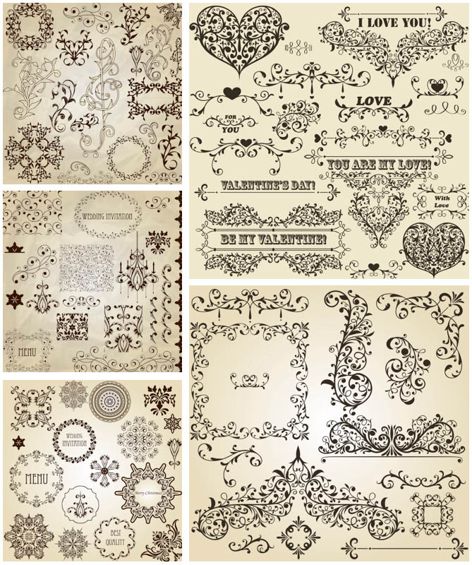 14 Free Vector Clip Art Romantic Images
