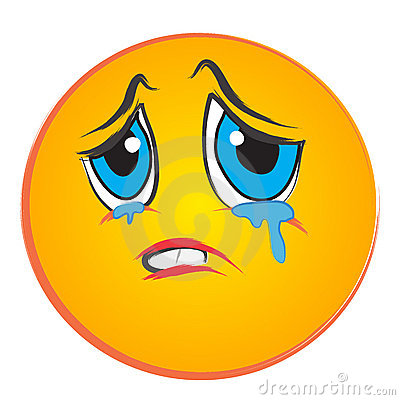 Sad Crying Face Clip Art