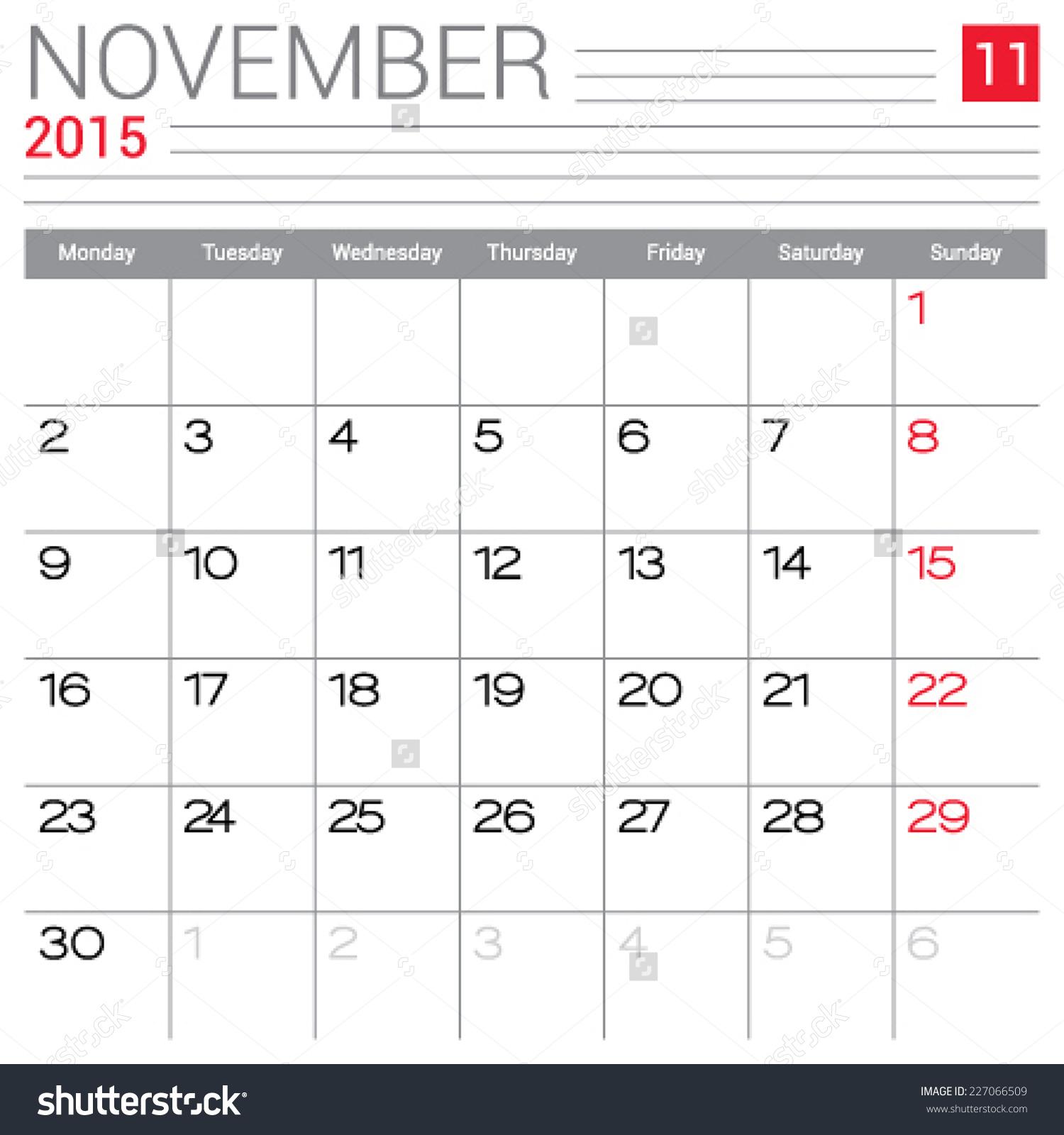 Simple Blank Calendar Template