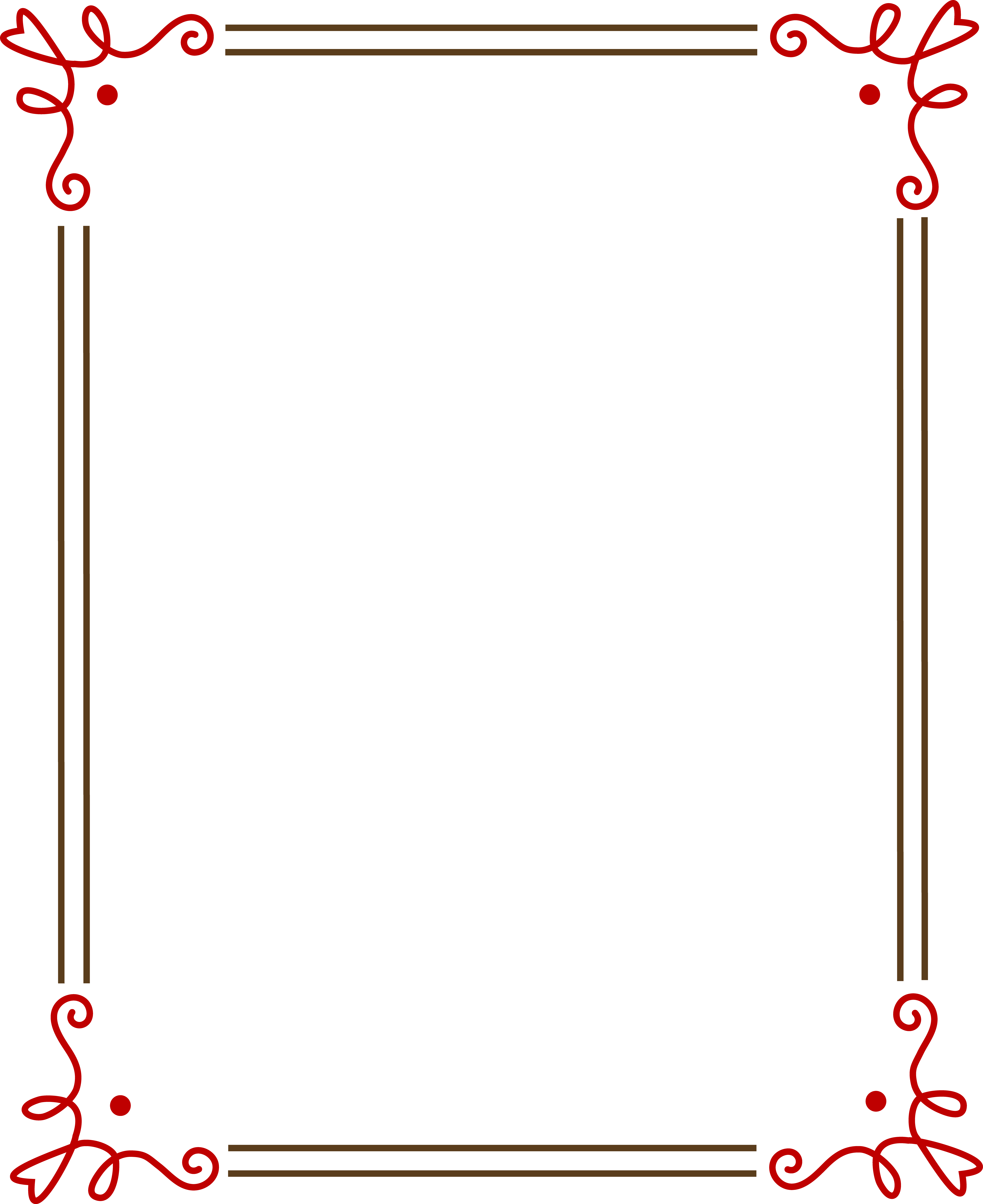 Simple Borders and Frames Clip Art