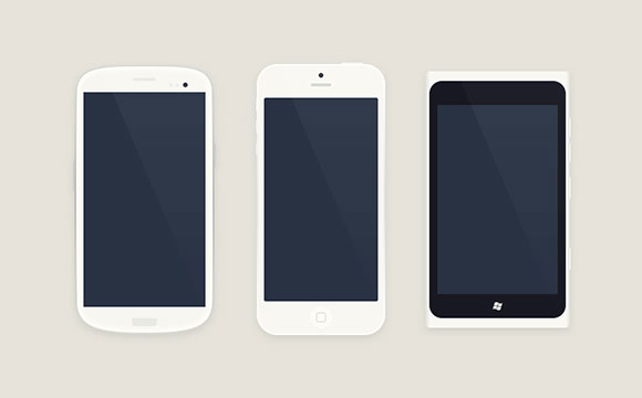 Smartphones Free PSD Mockups