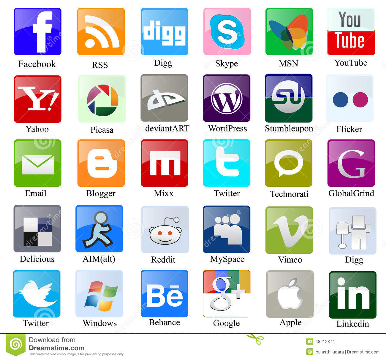 15 All Social Media Icons With Names Images - Social Media ...
