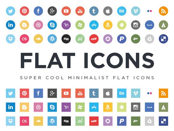 16 Social Media Icons Flat Design Images
