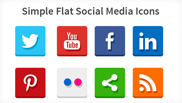 16 Social Media Icons Flat Design Images Social Media Icons Flat Social Media Icons Flat And Social Media Icons Flat Newdesignfile Com