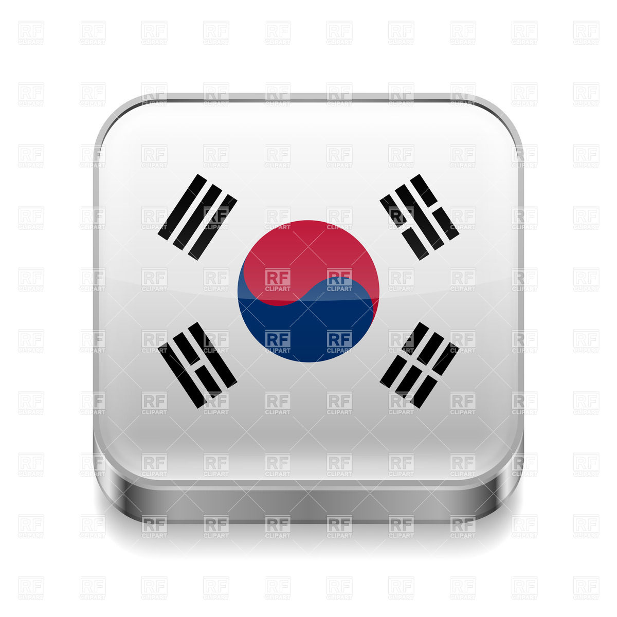 South Korean Flag Clip Art