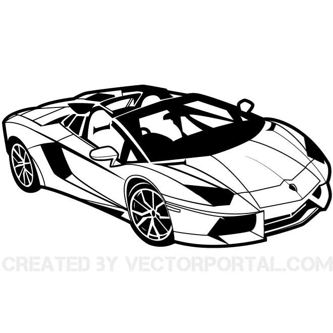 Sport Car Vector Clip Art