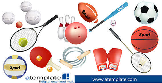 Sports Equipment Clip Art Vector Free