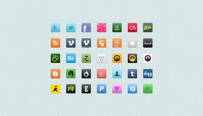 Square Social Media Icons Free Download