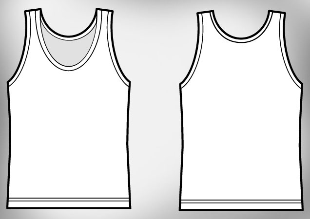 14 Tank Top Vector Template Images