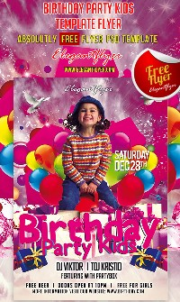 Free Psd Party Flyers Templates for Kids