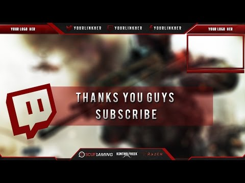 14 Twitch Overlay Template PSD Images - Twitch Overlay