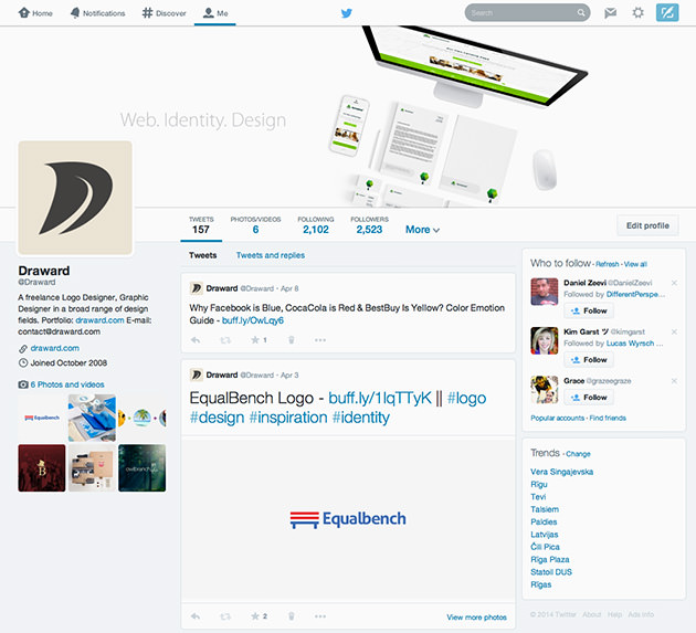 Twitter Cover Template