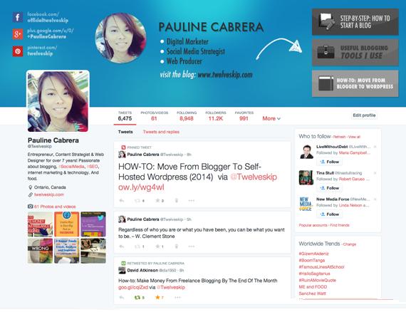 Twitter Template 2014