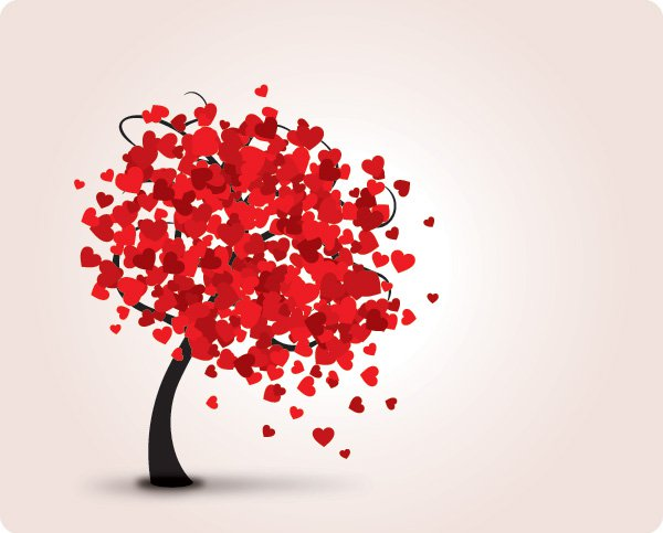Valentine Paint Chip Tree