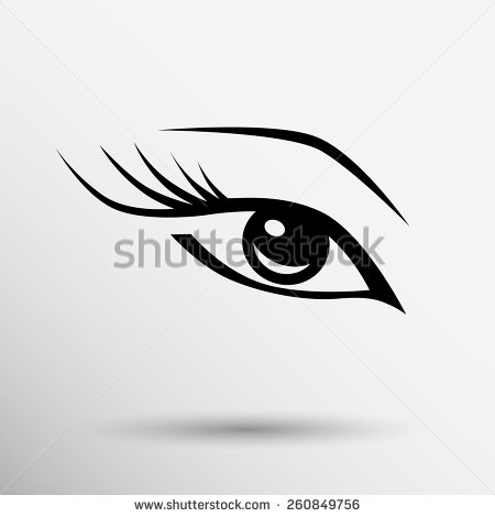 Vector Eye with Lashes