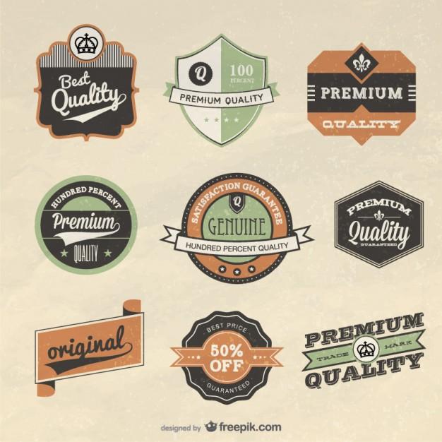 Vector Retro Label Design