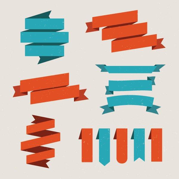 Vector Ribbon Banner Graphic