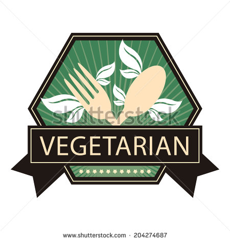 Vegetarian Icons Vectors