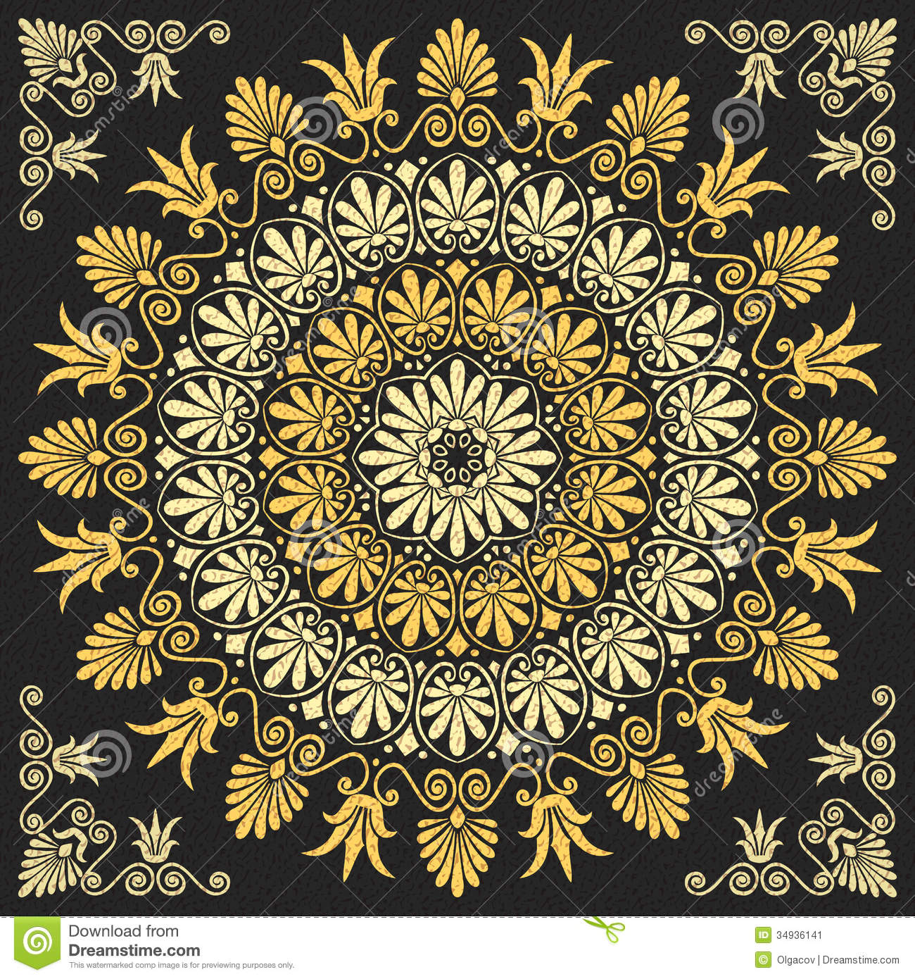 9 Gold Floral Ornament Vector Images