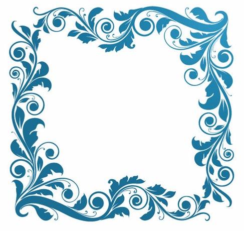 14 Flower Vector Floral Frame Images