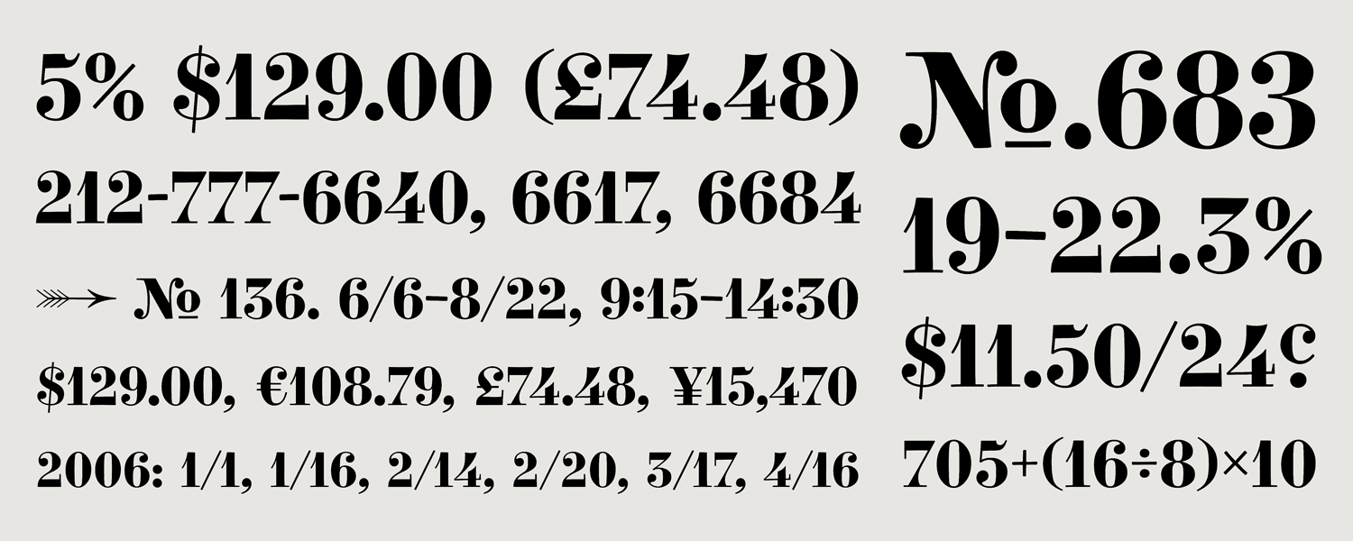 The gallery for vintage numbers font for Classic house number fonts