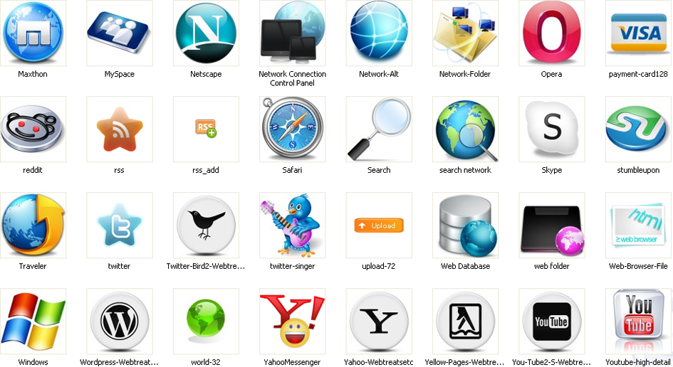 Web Icons Free Download