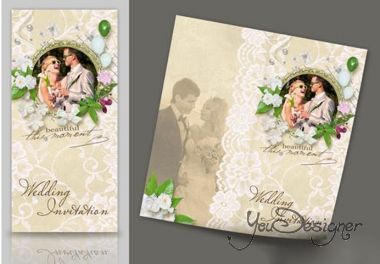 Wedding Invitation PSD Templates