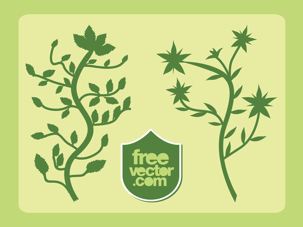 Weed Plant Vector