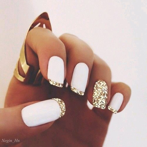 Black And Gold Nails Tumblr Best Nail Designs 2018
