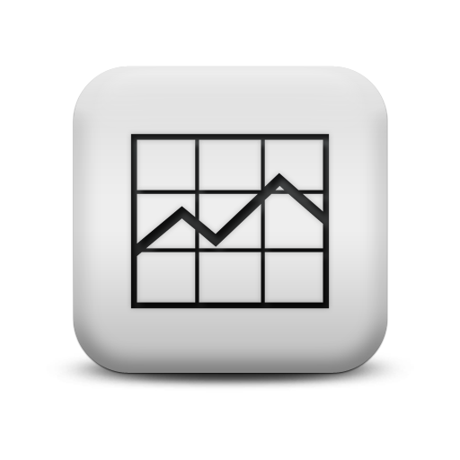 White Line Graph Icon