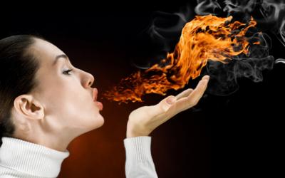 Woman Blowing Fire