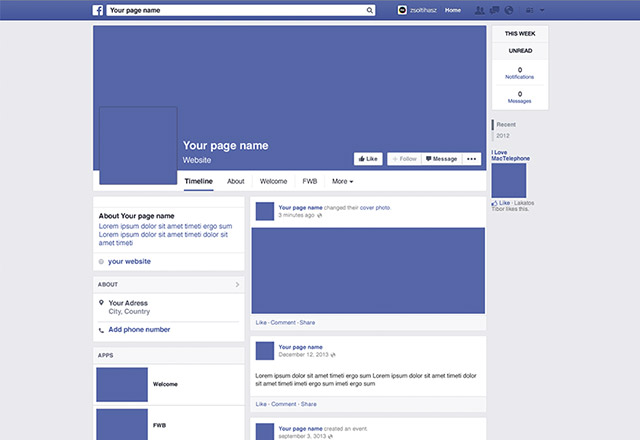 12 mobile facebook profile layout psd images facebook page