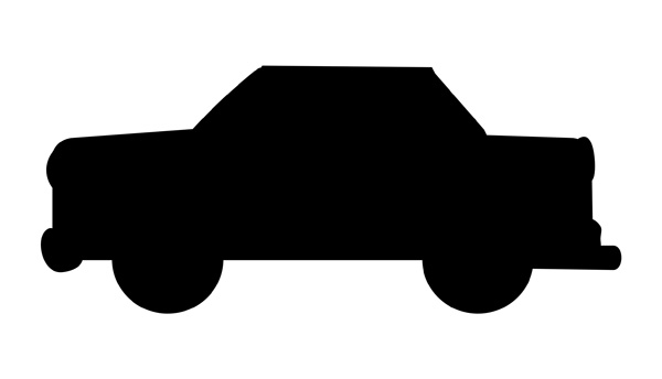 11 Car Icon Clip Art Black And White Images