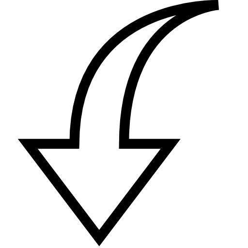 Black Down Arrow Icon