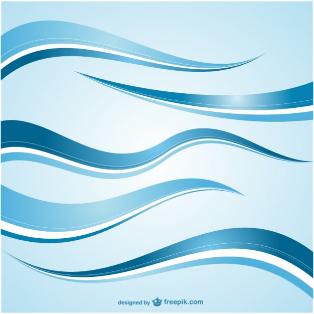 Blue Abstract Wave Vector Free