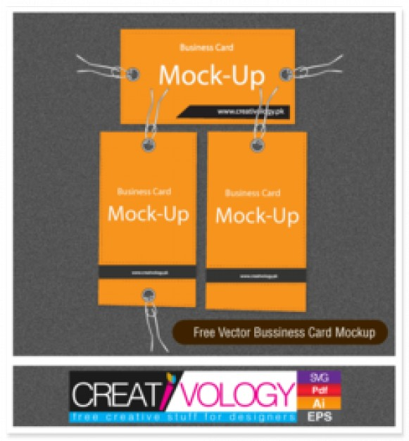 5 Black Orange Business Card Free Vector Icons Images