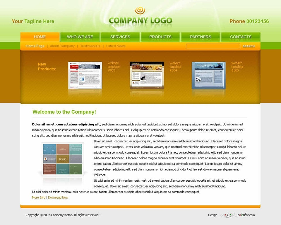 12 Free Corporate Website Template PSD Images