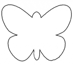 Butterfly cut out template