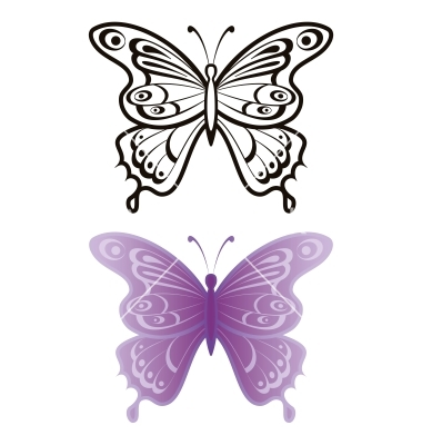 14 butterfly outline vector images color butterfly wings template butterfly vector free. Black Bedroom Furniture Sets. Home Design Ideas