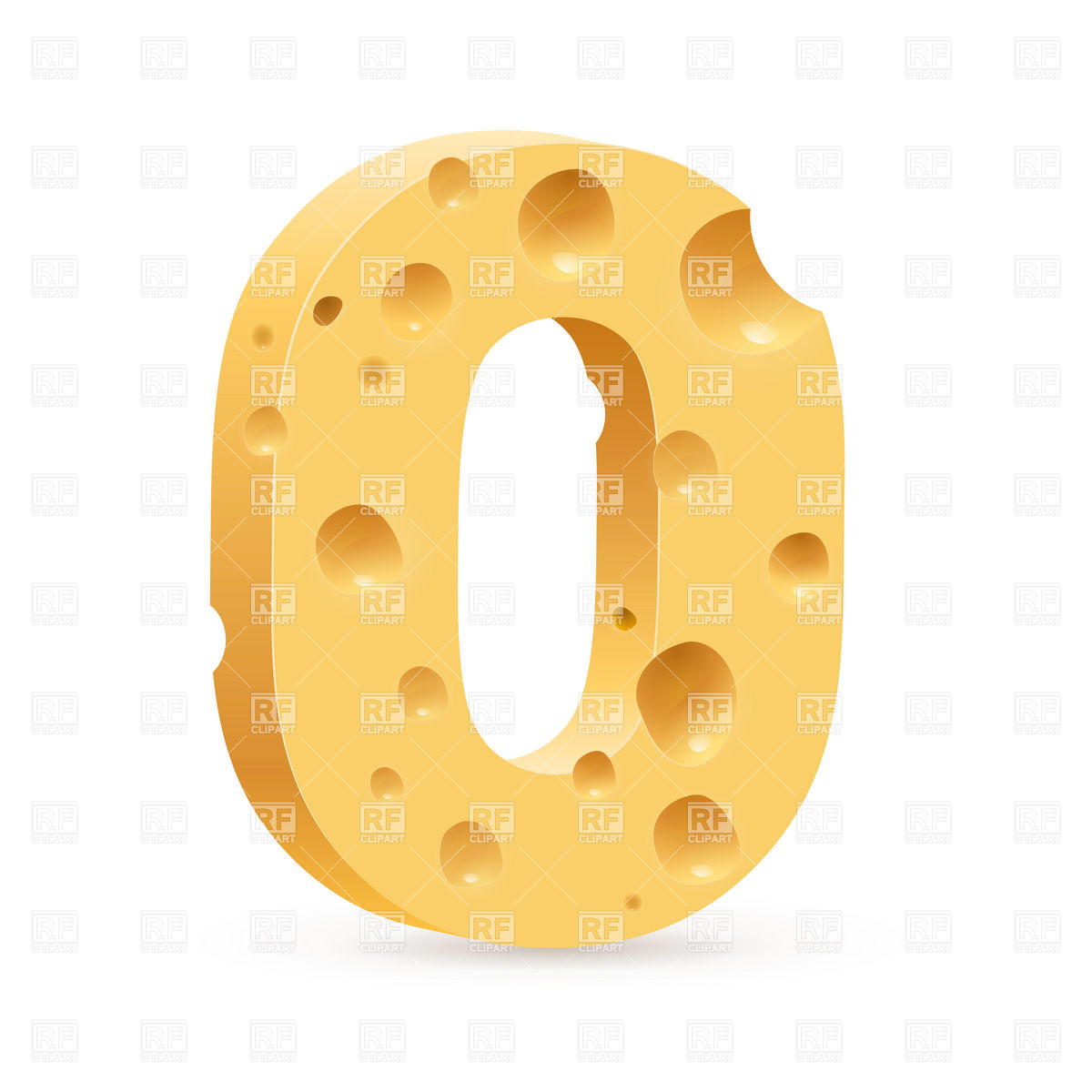 Cheese Letter O Font