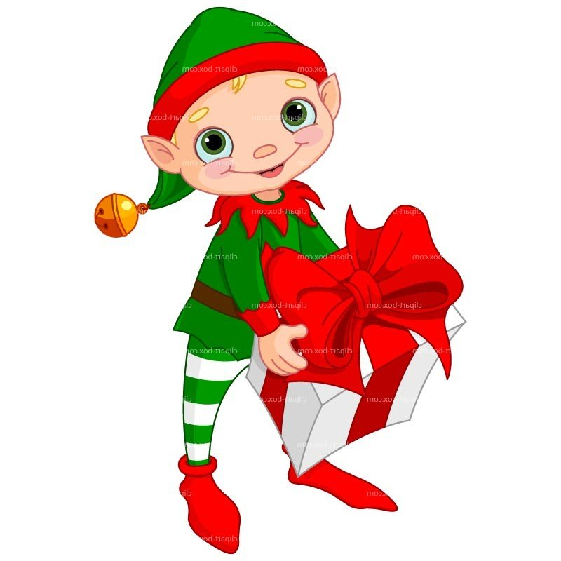 10 Christmas Elves Vector Graphics Images