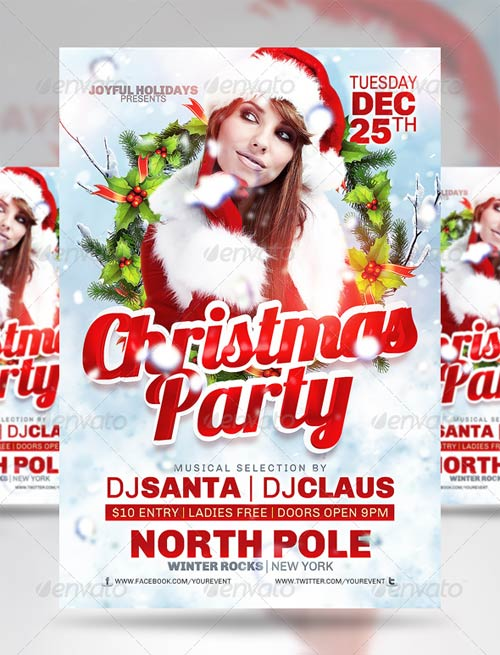 15 christmas party flyer psd images christmas party flyer templates free free christmas party for Christmas flyers psd