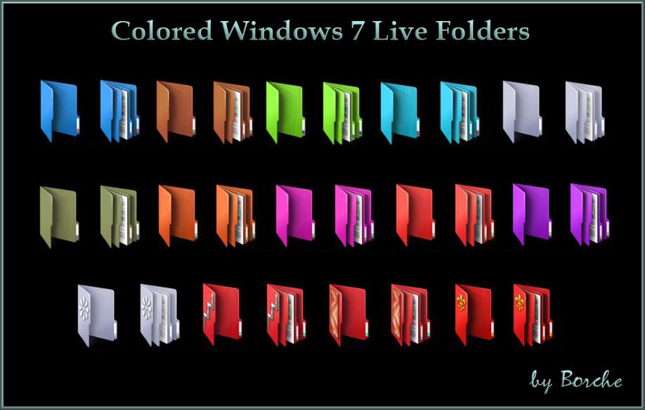 Colored Folder Icons Windows 7