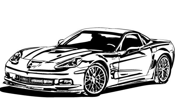 13 Corvette Car Vector Images