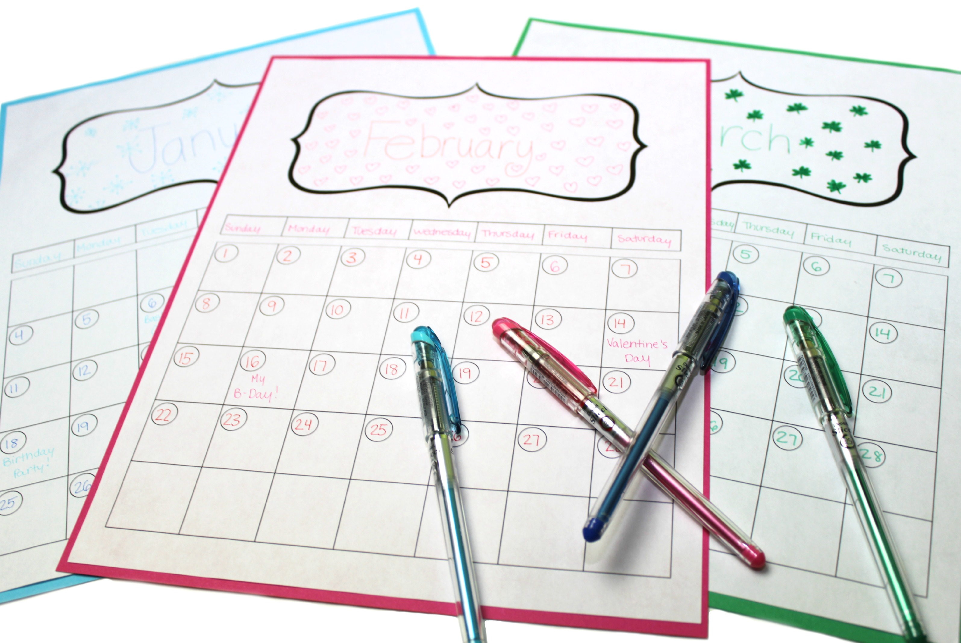 8 Make Your Own Design 2015 Calendar Printable Images