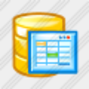 Database Table Icon Clip Art